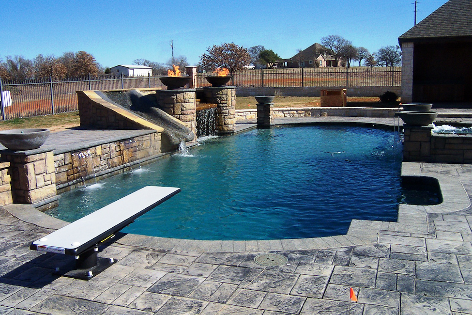 Retaining Wall Pool Ideas semi inground pools wwwgtahomequestcom 1 Retaining Walls Image 3 Dallas Texas Retaining Walls Construction