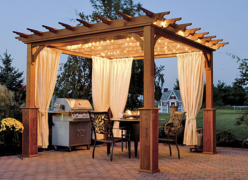 Stylish pergola ideas for your home pool quest for Photos de pergolas